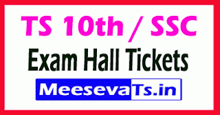 TS 10th Class SSC Annual Exam Hall Tickets