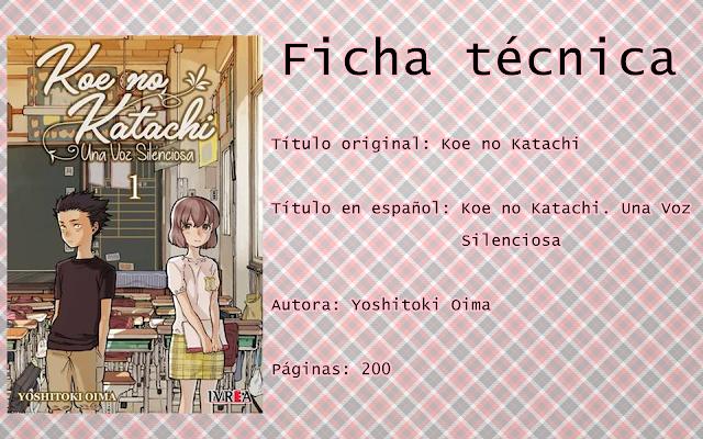 """Reseña """"Koe no Katachi. Una Voz Silenciosa"""""""