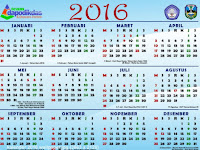 Download Kalender Dapodik tahun 2016 Gratis