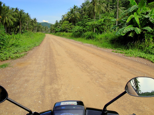 On the way to the tip, it is necessary to drive some dirt roads.