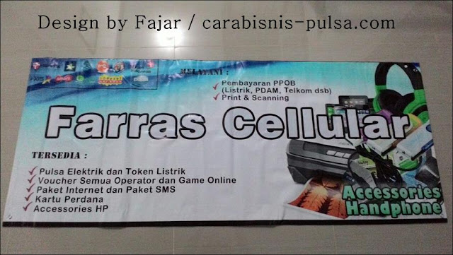 Hasil Jasa Desain dan Cetak Banner Farras Celullar