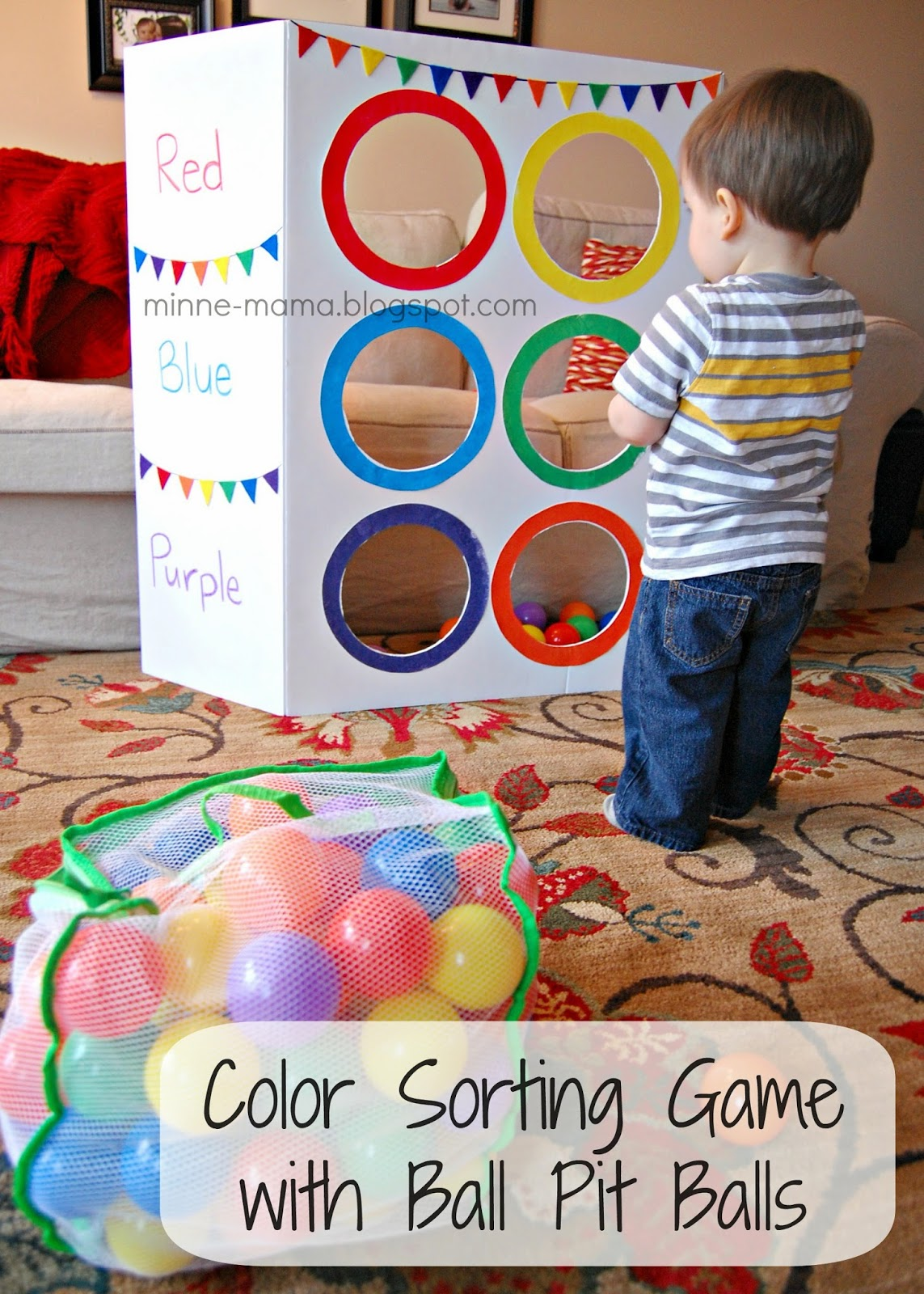 Minne Mama Color Toss Activity With Video