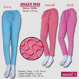 celana jogger motif model baru - diah motif 1