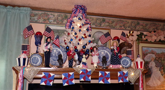 Summer Patriotic Mantel, 2020
