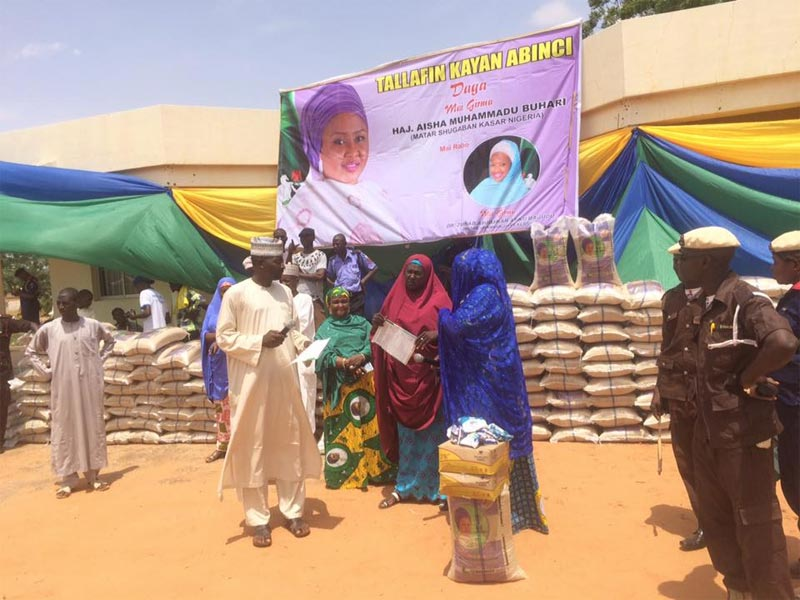 Ramadan: Aisha Buhari donates food items to less privileged in Kebbi State