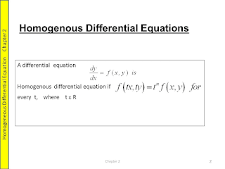 HOMOGENEOUS DIFFERENTIAL EQUATIONS EXAMPLE WITH SOLUTION