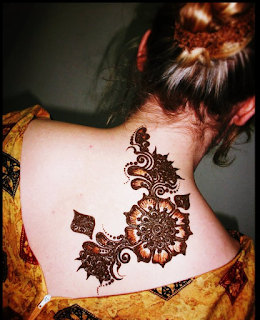Back Neck Design Models With Mehndi