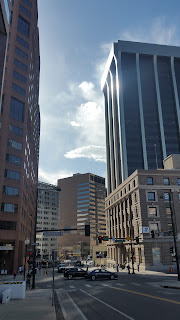 The city of Denver; streets and Buildings.