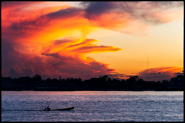 Sunset on the Amazon - Colombia