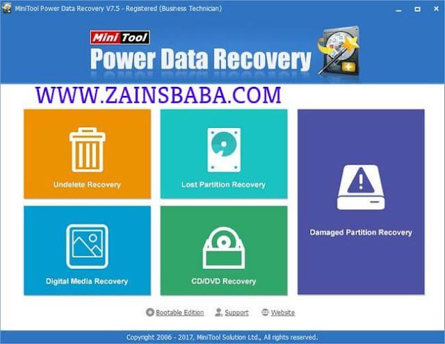 MiniTool Power Data Recovery 7.5.ZainsBaba.com