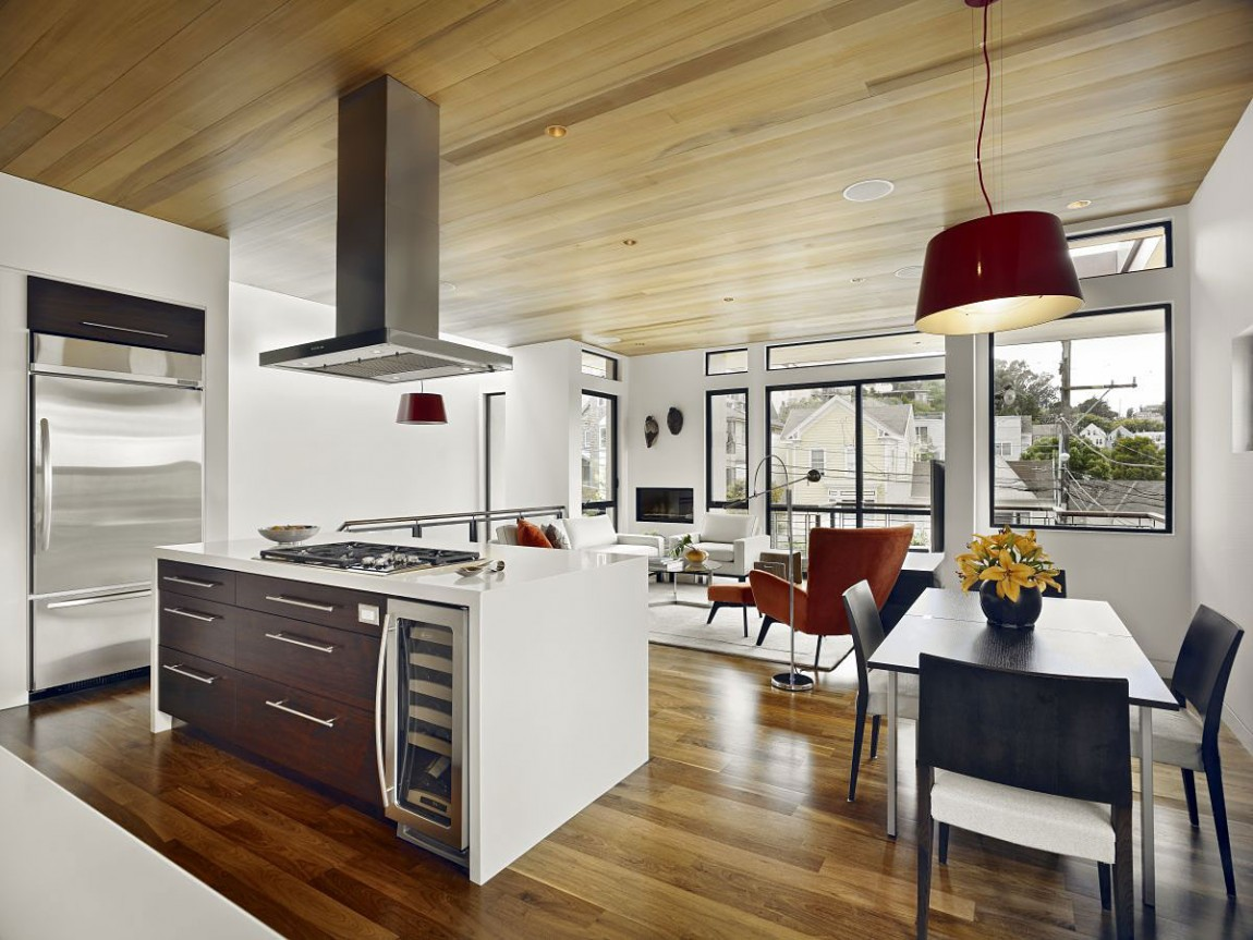 Modern Restaurant Kitchen Design World Of Architecture Warm Modern Vertical Home In San
