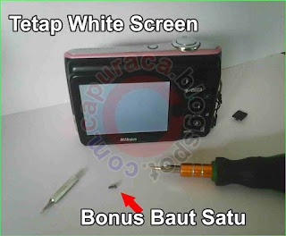 Masalah White Screen pada kamera digital,white screen,