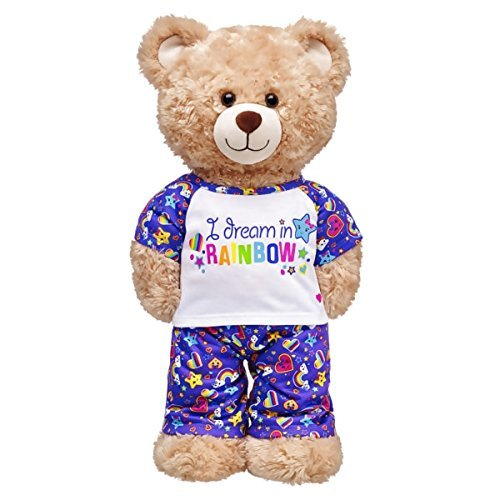 Build A Bear Workshop I Dream In Rainbow Pajamas 2 pc.
