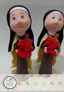 santos em biscuit
