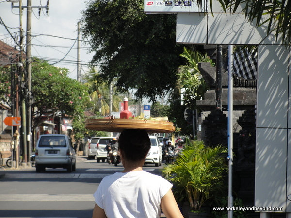 shopping street by Sanur Beach in Bali, Indonesia