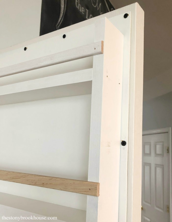 closeup before of shelf