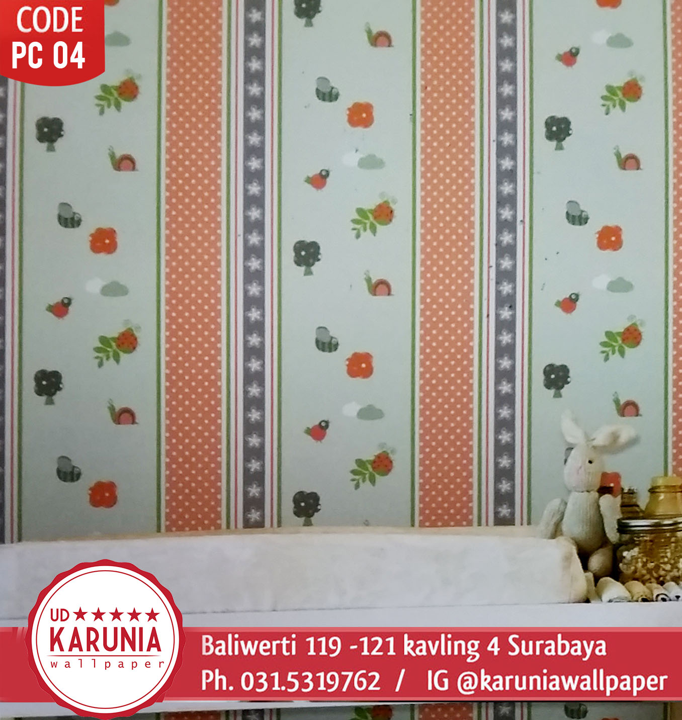 jual wallpaper dinding colorful
