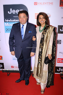 Red Carpet of Most Stylish Awards 2017 ~ Rishi Kapoor and his wife Neetu Singh (2).JPG