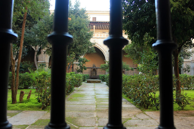 Jardín del claustro de la catedral de Toledo