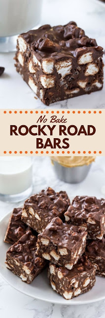 No Bake Rocky Road Bars