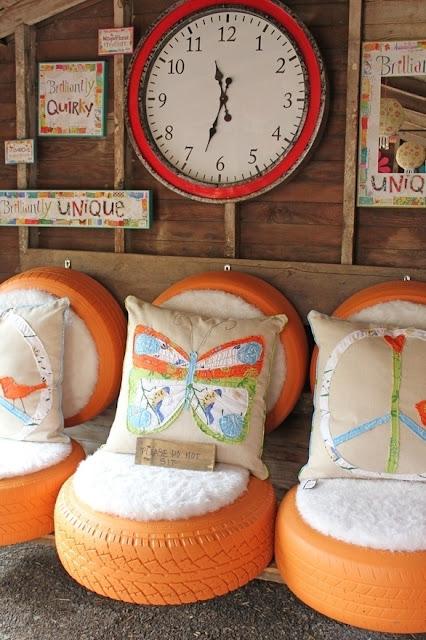 Reciclagem de pneu pra de decoração de sua casa, ideias lindas