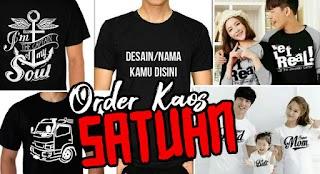 Order Kaos Satuan / Couple Dengan Desain Sendiri