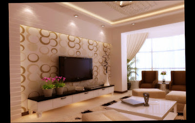 Image of Modern Style for Wall Decor For Living Room With LED TV Big Size