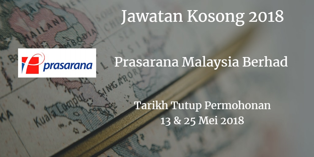 Jawatan Kosong Prasarana Malaysia Berhad 13 & 25 Mei 2018