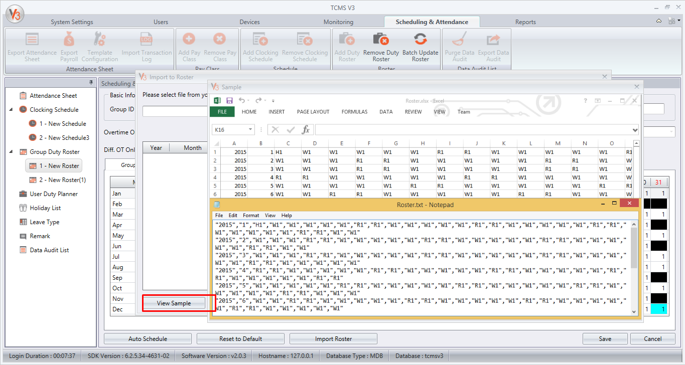 how to create a roster in excel