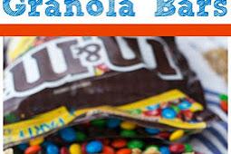 No Bake M&M's® Granola Bars