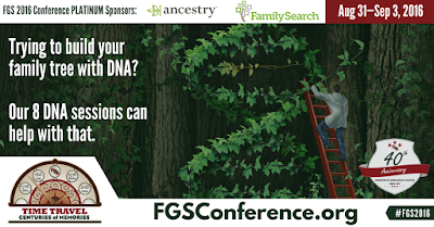 FGS 2016: Trying to Build Your Family Tree with DNA? Register today at FGSConference.org.