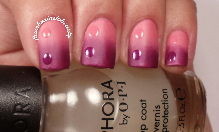 From Brains To Beauty Nail Tutorial Pink Amp Purple Matte Nail Design
