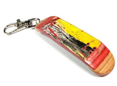 Skateboard Keychain