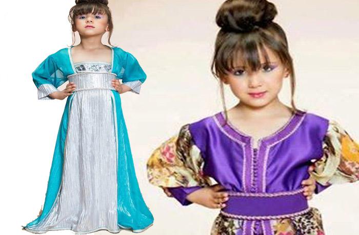 dde432f26d2dc أجمل 10 تصاميم القفطان المغربي للاطفال اكتشفي بنفسك caftan marocain