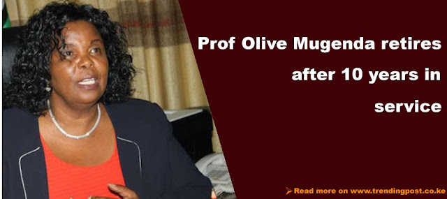 Prof. Olive Mugenda Retires From Office