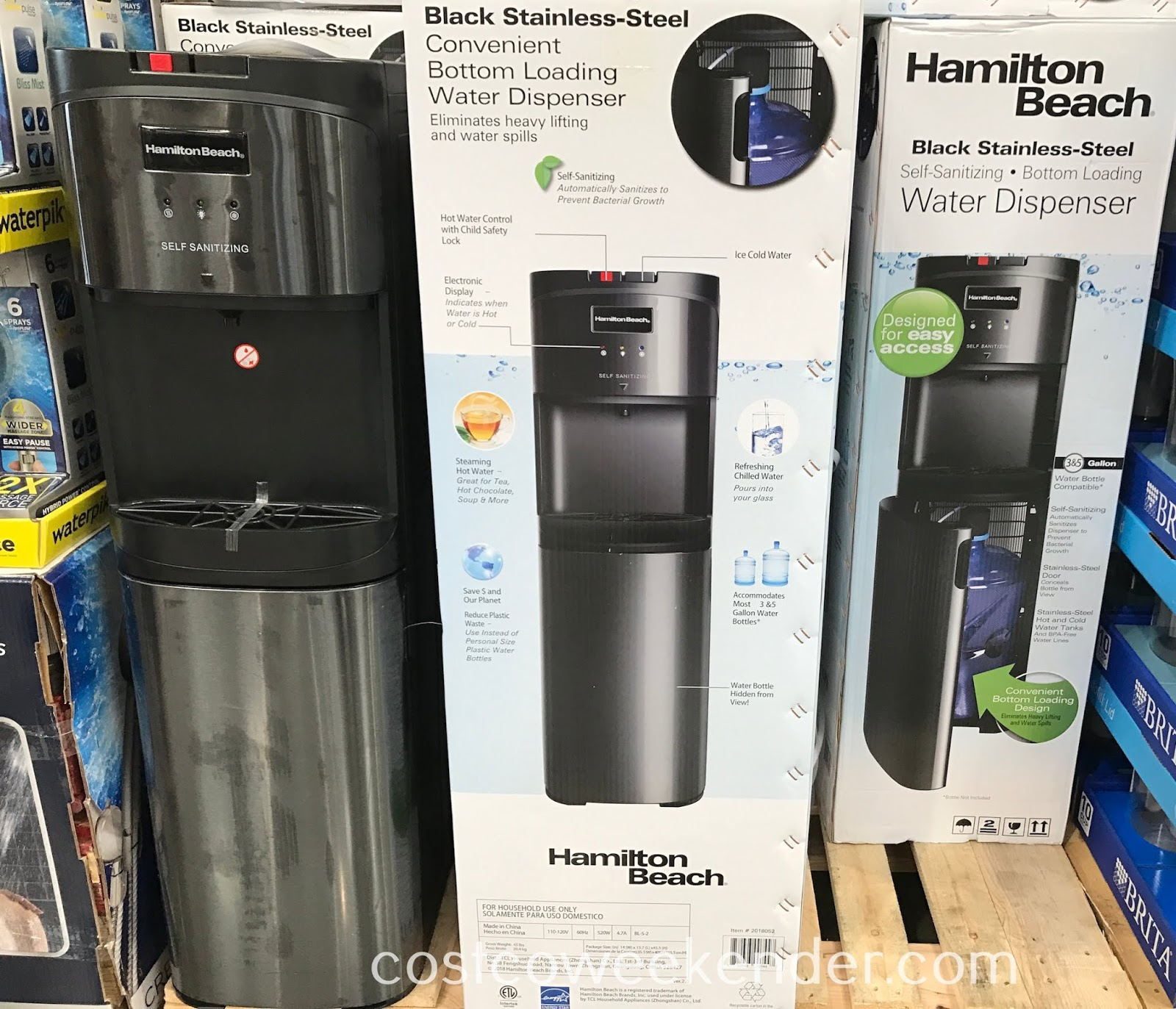 Provide water for your household while saving money with the Hamilton Beach Bottom Loading Water Cooler