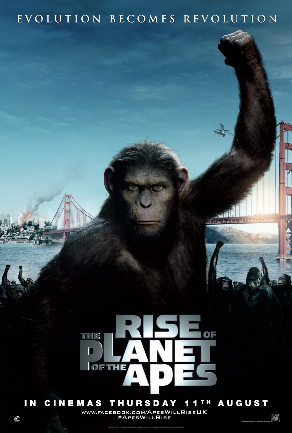 Rise of the Planet of the Apes (2011) Dual Audio 720p BluRay ESubs