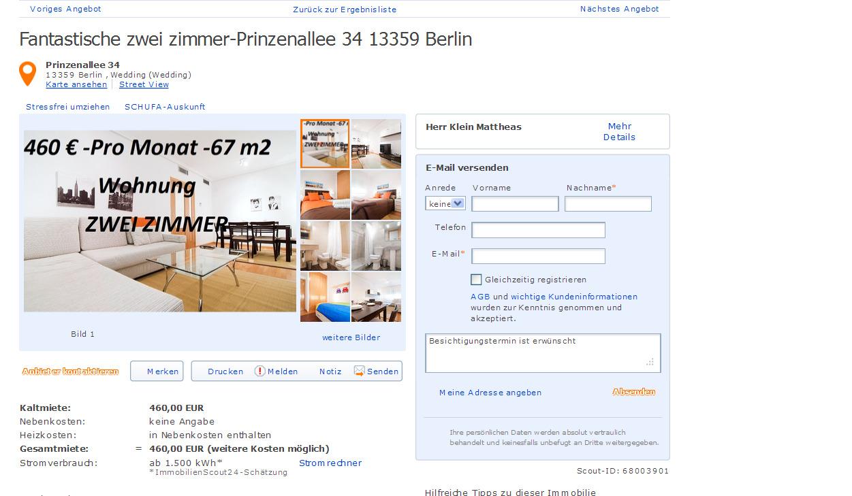 Kleinmattheass for Zwei zimmer wohnung berlin