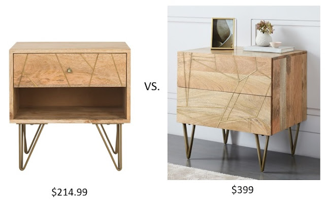 Look for Less West Elm Roar + Rabbit Geo Nighstand vs. the Safavieh Marigold Nightsand