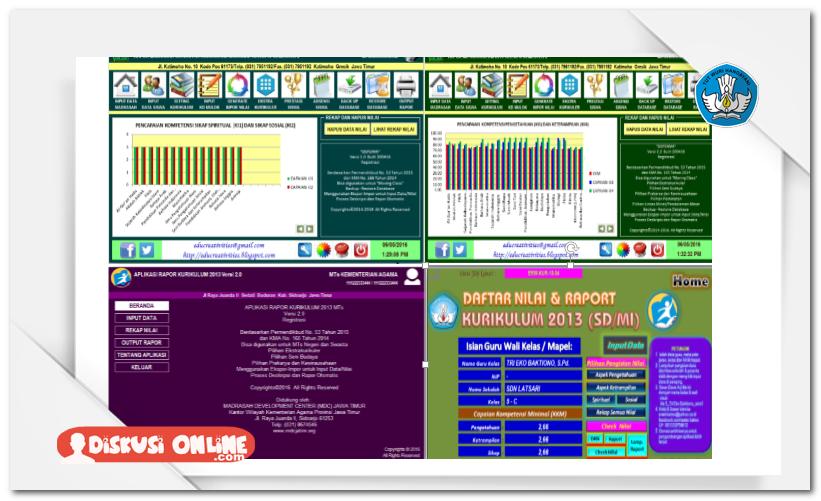 Aplikasi Raport Sd Smp Sma Kurikulum 2013 Lengkap Terbaru Administrasi Pendidikan