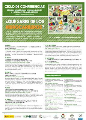 Cartel conferencias hidrocarburos en Minas Oviedo