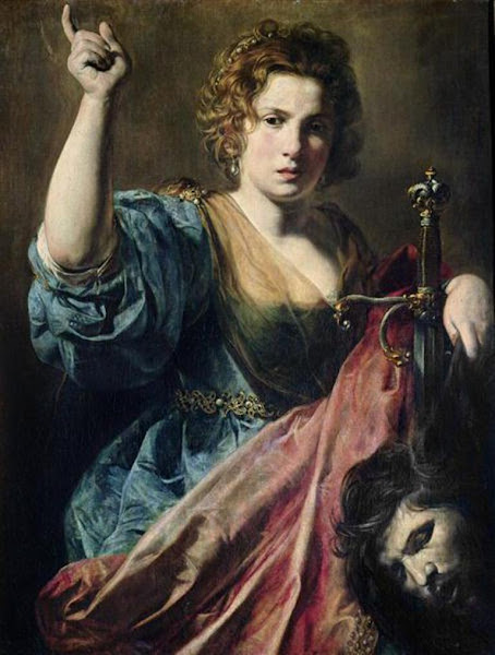 Judith with the head of Holofernes by Valentin de Boulognes, Macabre Art, Macabre Paintings, Horror Paintings, Freak Art, Freak Paintings, Horror Picture, Terror Pictures
