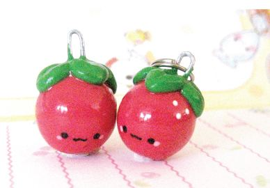 Image of: Clay Charms Strawberry or Apple Charm Tutorial Graphics8info Kawaii Polymer Clay Charms And Tutorials By Oborocharms The