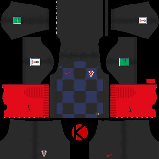 4f488958900 Croatia 2018 World Cup Kit - Dream League Soccer Kits - Kuchalana