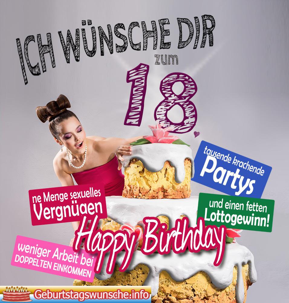 Glückwünsche Lustig Zum 18 Geburtstag