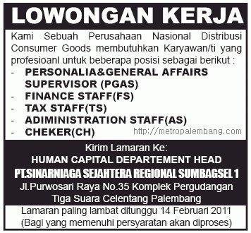 Lowongan Terbaru Juli 2012 Di Jakarta Depok Bekasi
