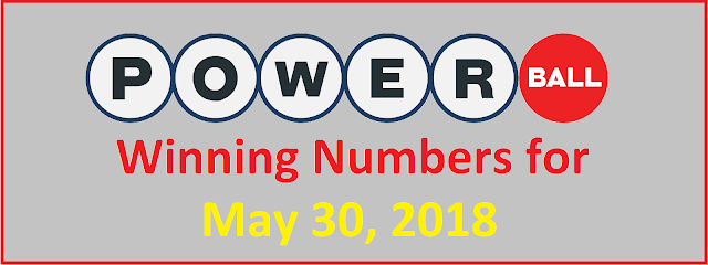 PowerBall Winning Numbers for Wednesday, 30 May 2018