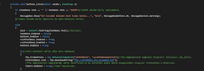 Chat Programı C# Kod