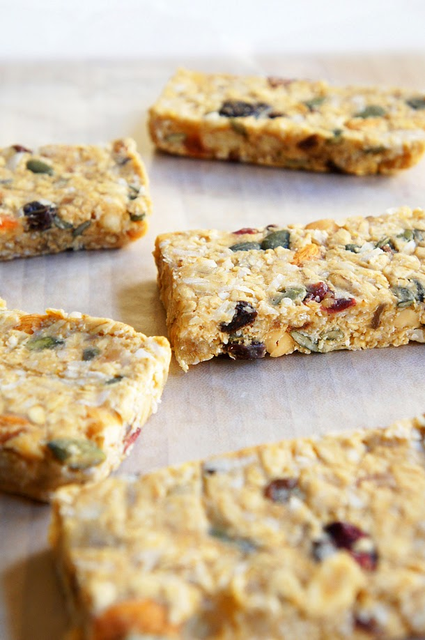 Quick and easy no-bake, no-sugar, gluten-free Chewy-Gooey Healthy Granola Bars