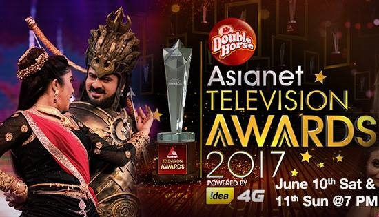Asianet Television Awards 2017-Telecast on June 10th and 11th, 2017 on Asianet
